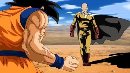 悟空VS一拳超人,认真一拳和10倍界王拳对拼,谁能笑到最后?