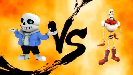 传说之下同人:拳王之争!Sans、帕派瑞斯大战三回合,谁能获胜呢