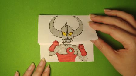 假如奥特之父3次变身升级,手绘出来哪次最厉害?画法简单好学
