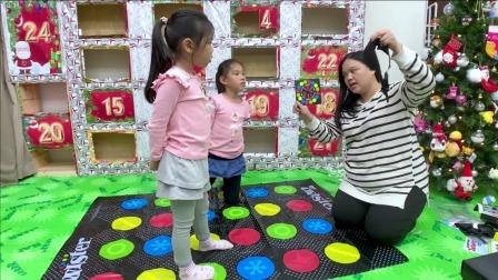 开心亲子游戏,今天姐妹俩玩的是地毯游戏
