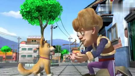 强哥回到家,但却闷闷不乐,一心挂念小狗狗