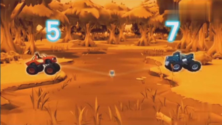 旋风战车队:飚速要打败小蓝,赢得了拿到活塞,拯救自己的朋友