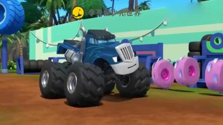 旋风战车队:飚速要小心啊,前方的路面被机器人喷上了滑溜溜的油