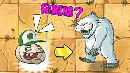 植物大战僵尸2:当雪人僵尸遇到大蒜,会怎样呢?