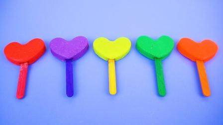 彩泥爱心棒棒糖 趣味手工DIY玩具
