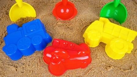 趣味挖沙游戏 工程车 卡车 飞机模具