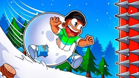 Roblox滚雪球模拟器:制造巨型雪球变身无敌破坏王!