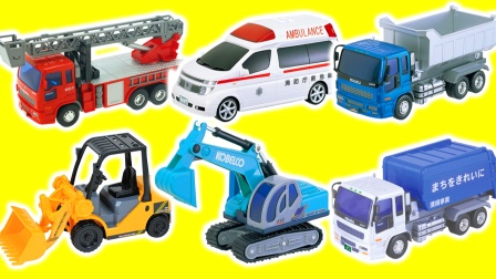 汪汪队的消防车救护车挖掘机盒玩食玩玩具