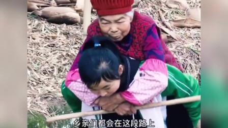 00后女孩背奶奶走10公里山路就医3年,多么善良孝顺的孩子