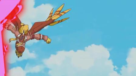 阿空拯救太一,成功从水果变回人形,必杀球打败热带兽