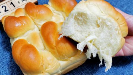经典老式面包,这2步做对了,花钱也买不到这个味道,放3天都软