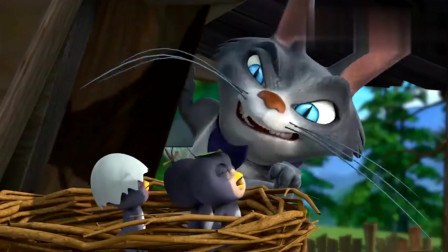 熊出没:熊大救了小燕子, 被燕子妈妈当成坏人, 一直啄它!