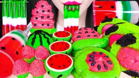 西瓜太贵吃不起,做点创意西瓜甜点吧,色彩鲜艳充满食欲