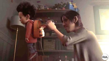 爸爸用绳拴住儿子,给他背上50斤重的包【热剧快看】