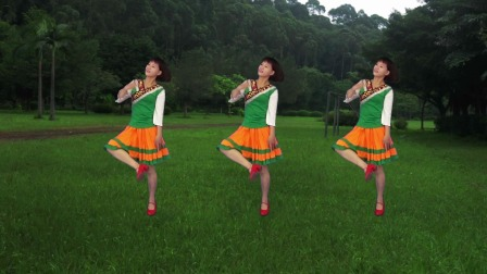广场舞《吉祥》舞曲喜庆欢快,藏族舞风格广场舞