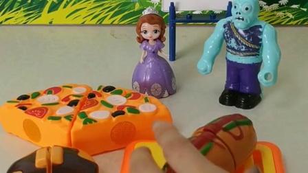 儿童玩具:苏菲亚出来买热狗了
