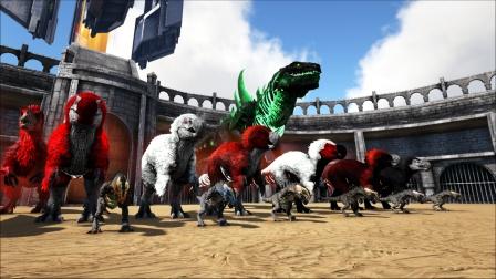 小哥斯拉等生物VS侏罗纪模组BOSS