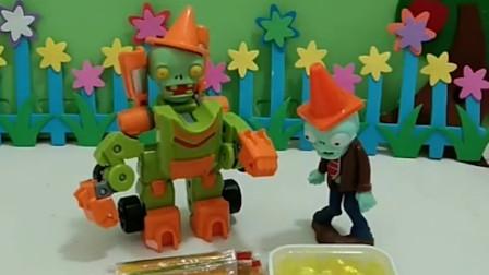 小鬼给小朋友买了糖果,猪爸爸冒充小朋友也想吃糖果,猪爸爸真贪吃!