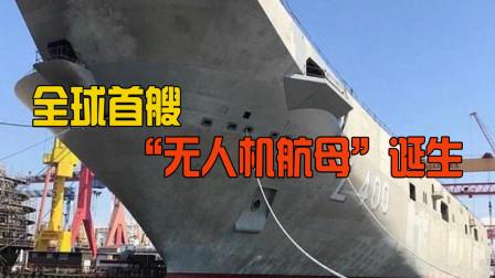 """向中美学习的成果?全球首艘""""无人机航母""""诞生,其实中看不中用"""