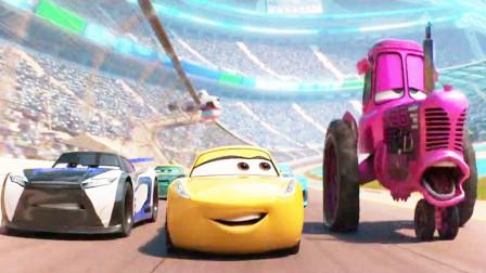 赛车总动员:女孩假扮成男孩子,把超级赛车当做拖拉机,以一敌百获得冠军杯!