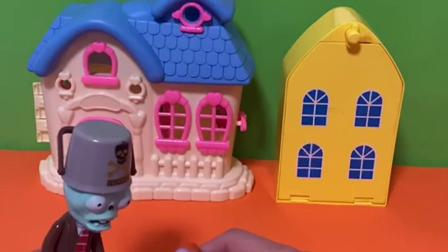 趣味玩具:僵尸抓了一只鸭子,汪汪队过来把鸭子救走了!