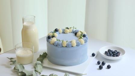 不用色素,也可以做蓝色蛋糕~一只蓝色的小蛋糕