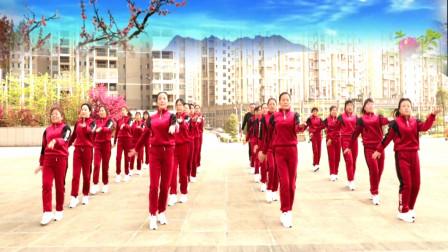 跳跳乐第22套晓敏快乐健身操第一节  演示队 湖南双峰激扬舞步健身队