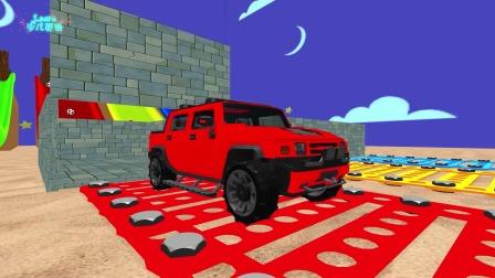 早教动画:通过玩具车辆认识颜色