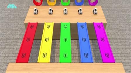 少儿动漫:看玩具车辆认识色彩与数字的英语单词