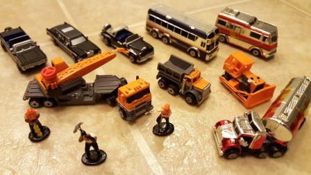 3套迷你汽车模型玩具拆盒
