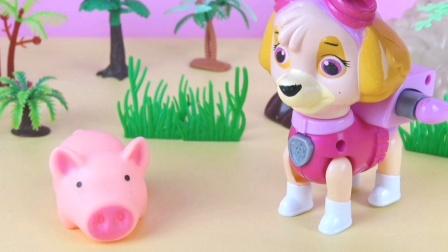天天和小猪猪的泥坑舞