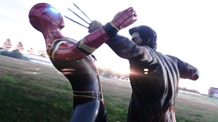 蜘蛛侠和金刚狼测试,钢铁战衣VS狼爪,振金和艾德曼合金谁更硬