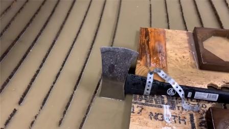 水刀的威力到底有多大?斧头在它面前毫无还手之力,原理是什么?