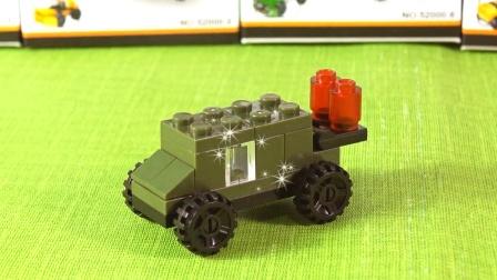 卡通3D拼装玩具,反舰导弹车
