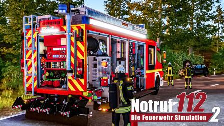 紧急呼叫112-消防模拟2 #3:小轿车在荒芜人烟的早高峰撞入了路边的草丛 | Emergency Call 112