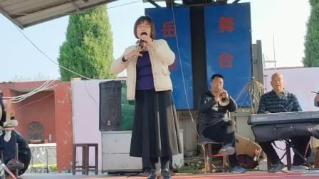 在纪念民族英雄岳飞诞辰928周年文艺演唱会上,获嘉县南关戏迷俱乐部李萍女士演唱豫剧《小二黑结婚》选段。