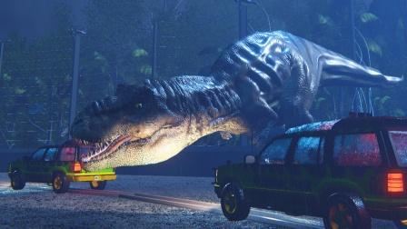 重返侏罗纪 大海哥跟霸王龙玩躲猫猫
