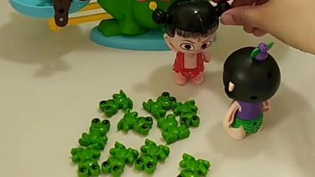 僵尸霸占了青蛙的家,葫芦娃想帮青蛙宝宝,你愿意帮他助力吗?