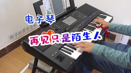 电子琴演奏《再见只是陌生人》,遇见对的人,珍惜拥有