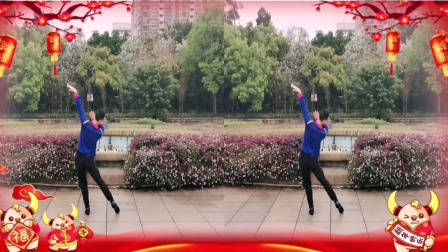 福州周周广场【花前月下】背面编舞沚水