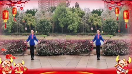 福州周周广场舞【花前月下】正面编舞沚水