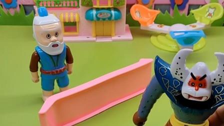 抓不到葫芦娃,怪兽就抓到了葫芦娃爷爷,这样葫芦娃就会来的