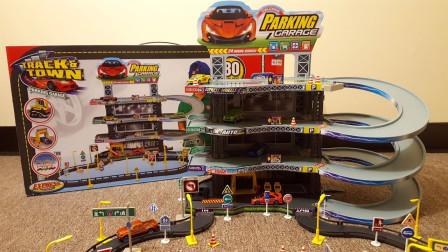 汽车小镇多层停车场玩具拆盒