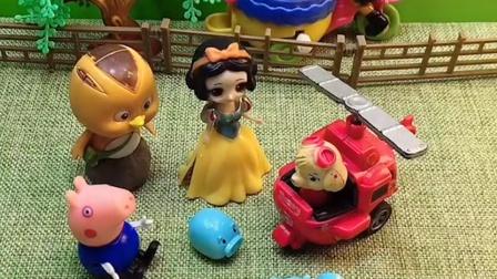 小猪找不到妈妈了,乔治他们还帮忙找了,真是太好了
