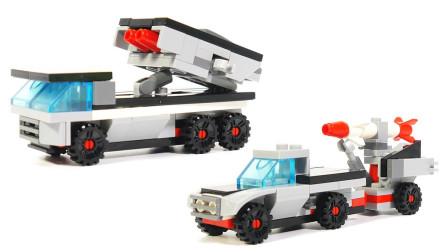 酷炫雷霆导弹车积木玩具拼搭
