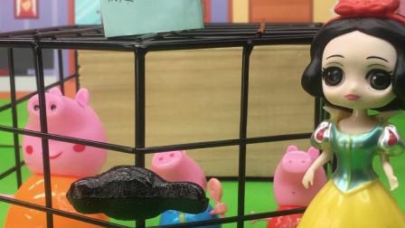 佩奇乔治被抓了,猪爸爸过来救他们!