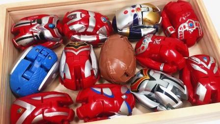 积木盒子装满奥特曼怪兽变形蛋玩具