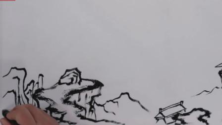 山水画极限构图:底部一条边的魅力