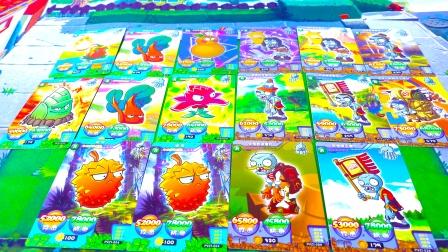 玩具开箱:植物大战僵尸AR卡片!植物越战越勇!僵尸也不甘示弱!鹿死谁手?