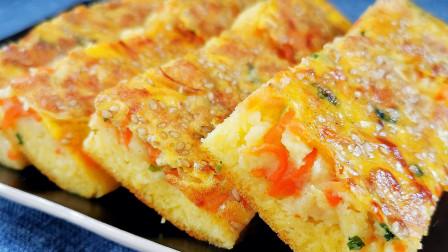 玉米面和它最搭配,筷子搅搅,大锅一烙,早上赖床也能吃的香